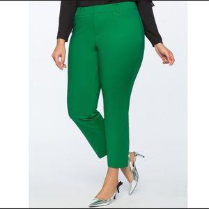 Eloquii Kady Fit Double-Weave Pant Verdant Green